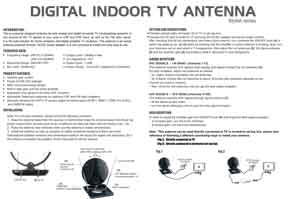 Indoor HDTV Antenna AV963P 30dB Amplified