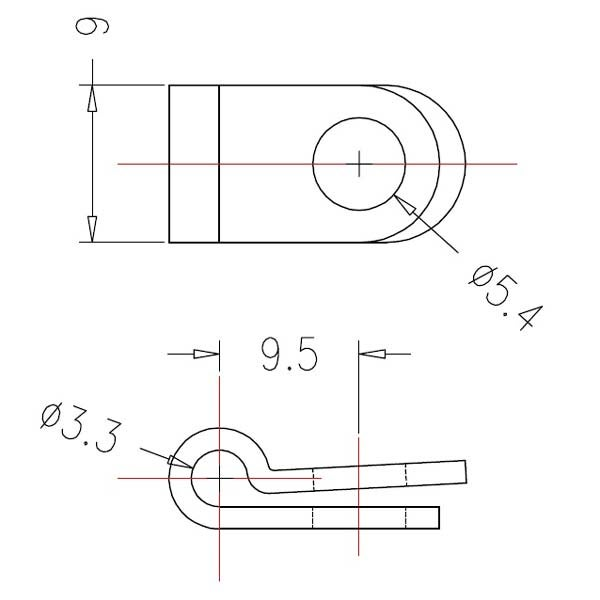 R-Type Cable Clamp 1/8