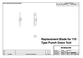 Replacement Blade for 110 Type Punch Down Tool