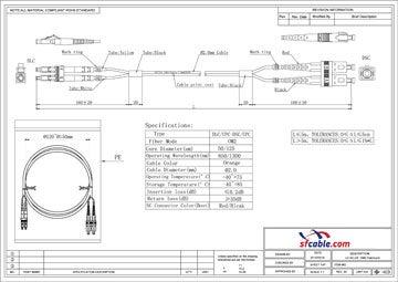 LC-SC Duplex Multimode 50/125 Fiber Optic Cable