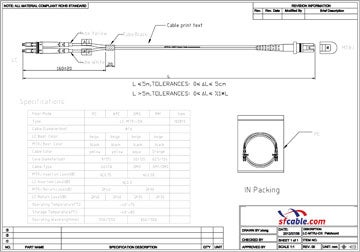 MTRJ-SC Duplex Multimode 50/125 Fiber Optic Cable