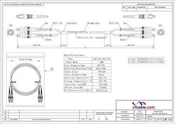 SC -SC Duplex Multimode 50/125 Fiber Optic Cable