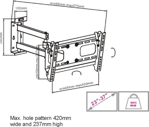 Flat TV Mount 32~55