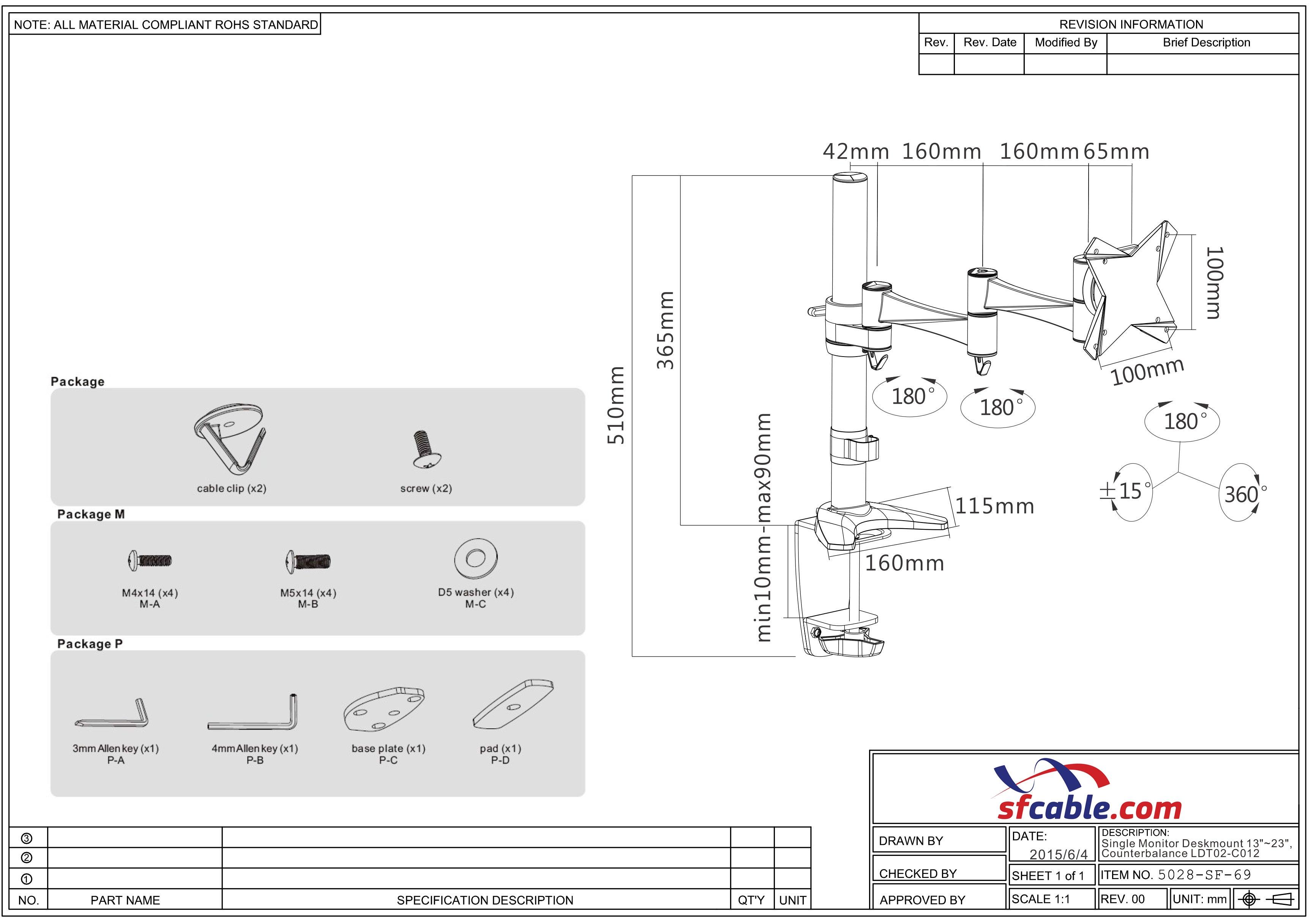 Single Monitor Deskmount 13~23