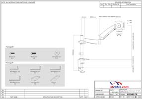 Single Monitor Counterbalace Deskmount 13~27