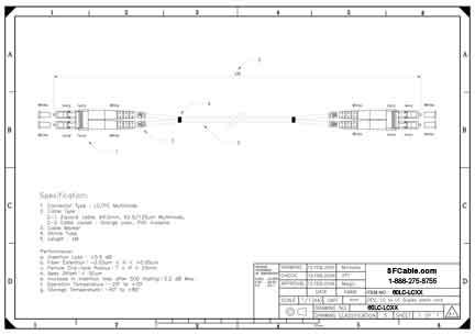 LC-LC Duplex Multimode 62.5/125 Fiber Optic Cable