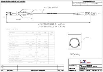 LC-MTRJ Duplex Multimode 62.5/125 Fiber Optic Cable