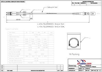 MTRJ-MTRJ Duplex Multimode 62.5/125 Fiber Optic Cable