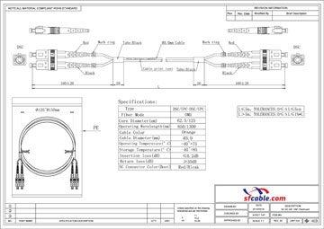 SC-SC Duplex Multimode 62.5/125 Fiber Cable