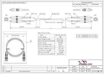 ST-SC Duplex Multimode 62.5/125 Fiber Cable