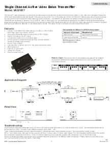 Video Balan Active Transmiter (use w/5015-SF-11 receiver) 5K ft