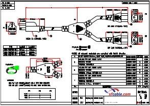 NEMA 5-15P to C13 X 2 16AWG SJT Power Cord Splitter
