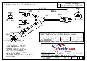 6ft 18 AWG NEMA 5-15P to 2 C13 Power Cord Splitter