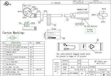 Ultra Low Profile Angle NEMA 5-15P to NEMA 5-15R Power Cord