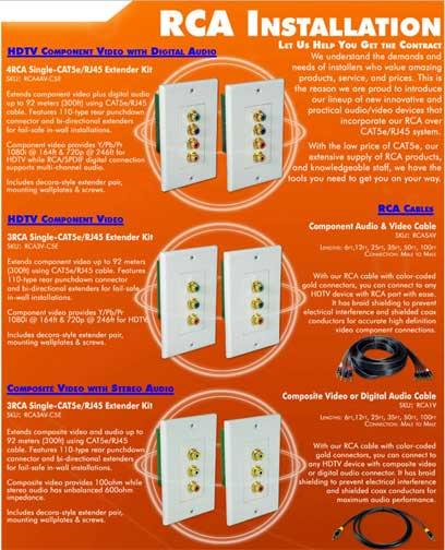 5 RCA Premium Component Audio & Video Combo Cable