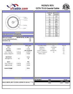 1000ft RG59/U 95% Braid CCTV 75 Ω Coaxial CMR Cable
