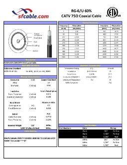 1000ft RG6/U 75Ω Dual Shield Coax Cable CMR