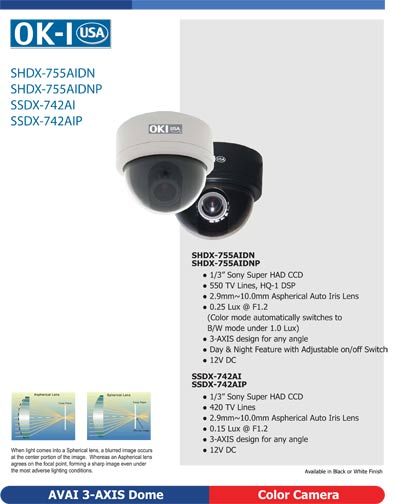 Super HAD Dome D/N 420TVL 3-Axis Black, SSDX-742AIB