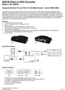 BNC/S-Video to VGA Converter