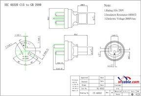 C13 to China GB2099 Power Plug Adapter