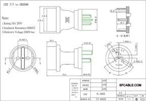 European CEE7/7 to China GB2099 Power Plug Adapter