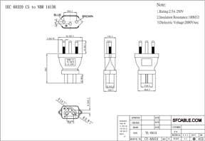 IEC C5 to NBR14136 Plug Adapter