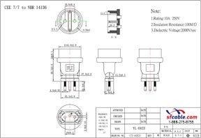 European CEE7/7 to Brazil Power Plug Adapter