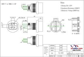 European CEE7/7 Schuko to USA NEMA 5-15 Power Plug Adapter