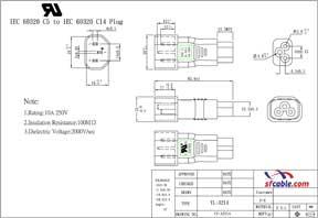 C5 to C14 Power Plug Adapter