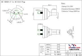 C7 to Australia AS3112 Power Plug Adapter