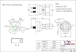 European CEE7/16 to Australia AS3112 Power Plug Adapter