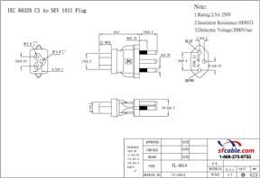 C5 to Switzerland SEV 1011 Power Plug Adapter