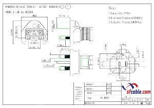 USA NEMA 5-15R Receptacle to Fused UK BS1363 3 prong plug