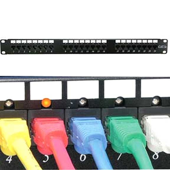 Brand New Cat.5E 110 Patch Panel 48Port Rack Mount w/LED Indicator #102228.