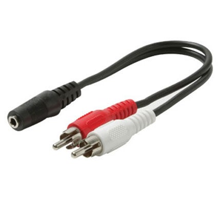 "Steren 6"" 3.5mm Stereo Female to 2 RCA Male Y-Cable at Sears.com"