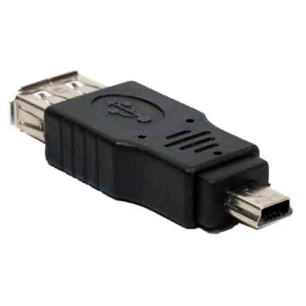 usb a female to mini usb b 5 pin male adapter. Black Bedroom Furniture Sets. Home Design Ideas