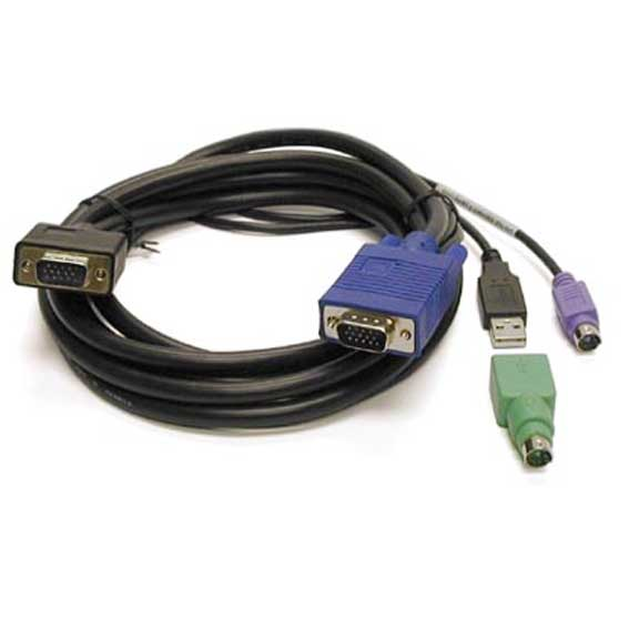 Linkskey 6ft Slim 3-in-1 High-Quality USB/PS2 KVM Combo Cable M/M at Sears.com