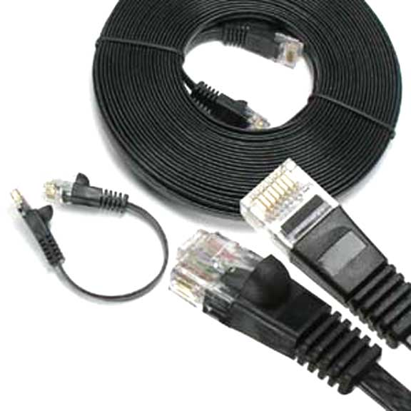 Sf Cable 7 ft CAT6 Flat Patch Cable Black at Sears.com