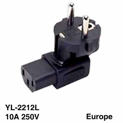 Sf Cable SHUCKO Europe 3 prong plug to C5 3 prong receptacle at Sears.com
