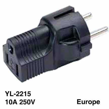 Sf Cable SHUCKO Europe 3 prong plug to NEMA 5-15R 3 prong USA receptacle at Sears.com