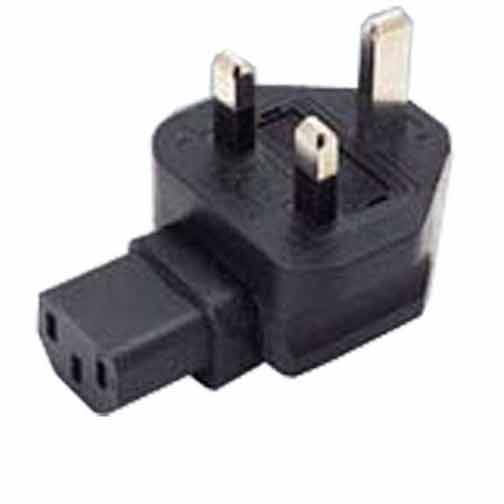 Sf Cable BS1363A UK fused 3 prong plug to C13 3 prong receptacle, right angle at Sears.com