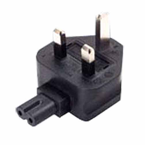 Sf Cable BS1363A UK fused 3 prong plug to C7 2 prong receptacle, right angle at Sears.com
