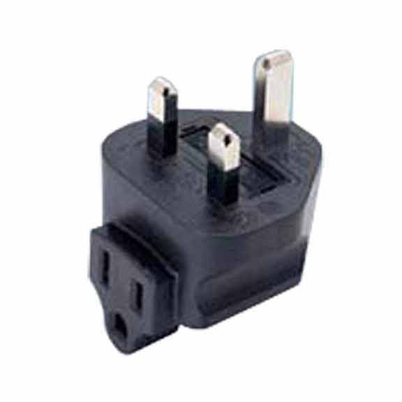 Sf Cable BS1363A UK fused 3 prong plug to NEMA 5-15R 3 prong USA receptacle, right angle at Sears.com