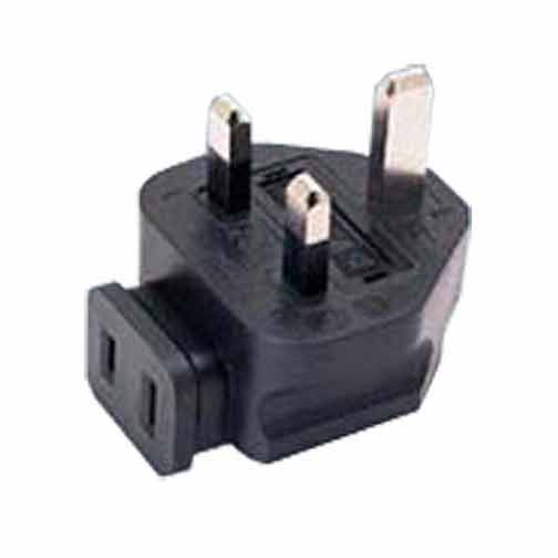 Sf Cable BS1363A UK fused 3 prong plug to NEMA 1-15R 2 prong USA receptacle, right angle at Sears.com