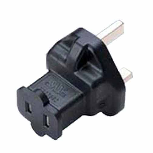 Sf Cable BS1363A UK fused 3 prong plug to NEMA 1-15R 2 prong USA receptacle at Sears.com