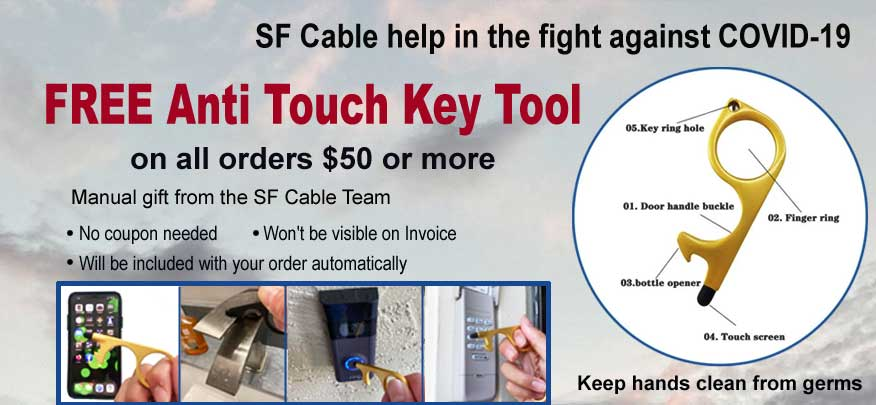 Free Anti Touch Key Tool - Keep the hand clean from germs