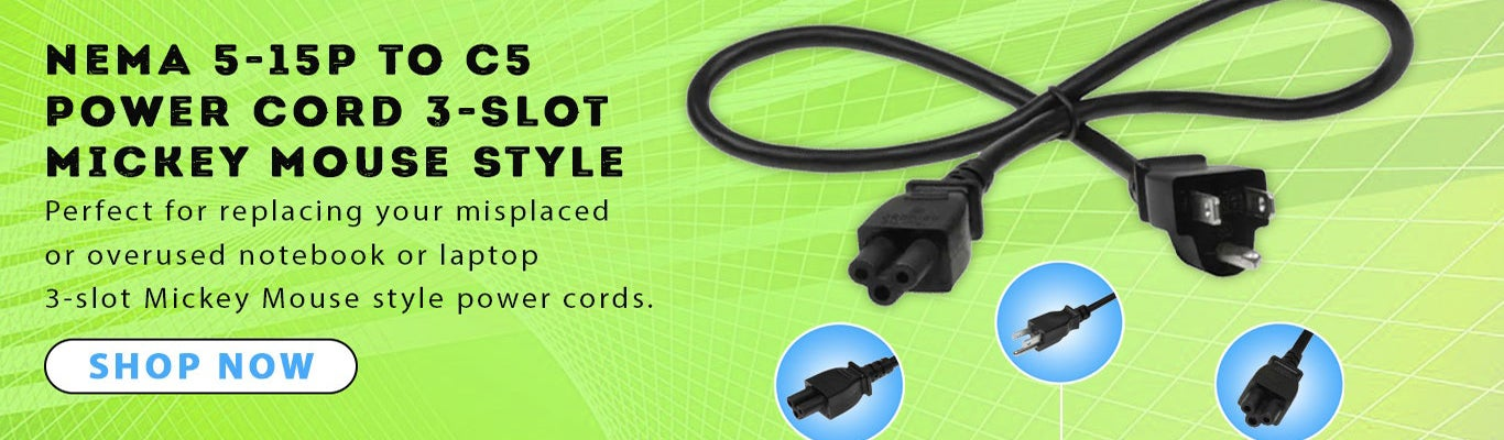 Notebook power cord