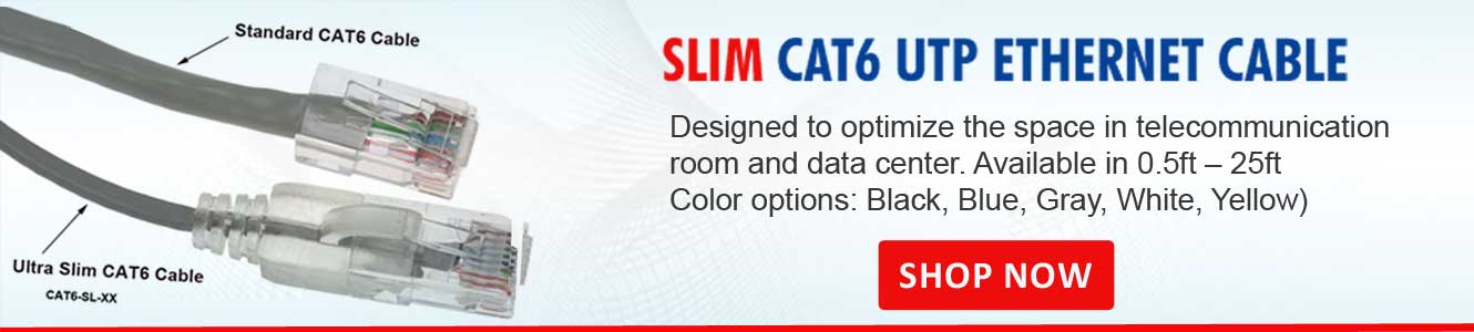 Slim Cat6 Ethernet Networking Cables