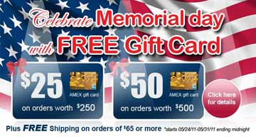 Memorial Day's Special Promotion