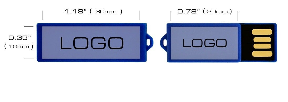 2GB Clip USB Flash Drive